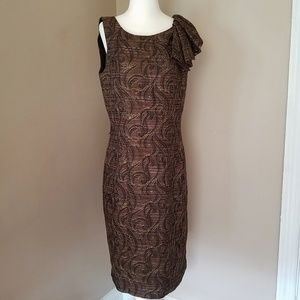 St. John Couture Bronze and Gold Evening Dress 8